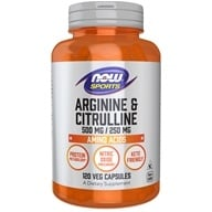 NOW Foods - Arginine & Citrulline 500/250 - 120 Capsules - $13.99