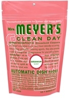 Image of Mrs. Meyer's - Clean Day Automatic Dish Packs 20 Loads Geranium - 12.7 oz.
