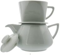 Harold Import - Drip Coffee Pot Porcelain White - 16 oz., from category: Housewares & Cleaning Aids
