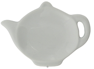 Harold Import - Tea Bag Caddy Porcelain White Teapot Design