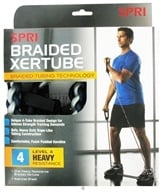SPRI - Braided Xertube Level 4 Heavy Resistance Band - formerly StrengthCord CLEARANCED PRICED by SPRI