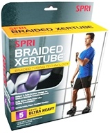 SPRI - Braided Xertube Level 5 Ultra Heavy Resistance Band - formerly StrengthCord CLEARANCED PRICED (018713584816)
