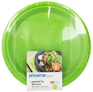 Preserve - Reusable Recycled Plastic Plates Large 10.5 inch Apple Green - 8 Piece(s)