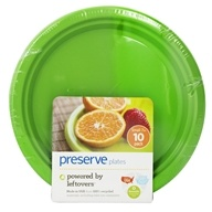 Preserve - Reusable Recycled Plastic Plates Small 7 inch Apple Green - 10 Piece(s) by Preserve