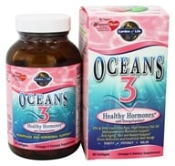 Garden of Life - Oceans 3 Healthy Hormones with OmegaXanthin - 90 Softgels (658010113861)