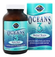 Garden of Life - Oceans 3 Better Brain with OmegaXanthin - 90 Softgels (658010113830)
