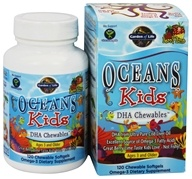 Image of Garden of Life - Oceans Kids DHA Chewables Berry Lime - 120 Softgels