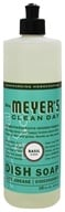Image of Mrs. Meyer's - Clean Day Liquid Dish Soap Basil - 16 oz.