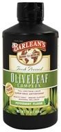 Barlean's - Fresh Pressed Olive Leaf Complex Full Spectrum Liquid Peppermint - 16 oz.