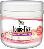 Pure Essence Labs - Ionic-Fizz Super D-K Calcium Plus Raspberry Lemonade Flavor - 7.41 oz.