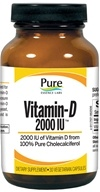 Pure Essence Labs - Vitamin-D 2000 IU - 30 Vegetarian Capsules by Pure Essence Labs