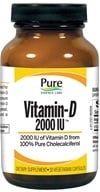 Pure Essence Labs - Vitamin-D 2000 IU - 30 Vegetarian Capsules