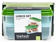 Fit & Fresh - Healthy Lunch On The Go Set with Removable Ice Packs - 17 Piece Set Green, from category: Housewares & Cleaning Aids