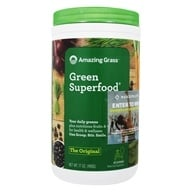 Amazing Grass - Green SuperFood All Natural Drink Powder 60 Servings Original - 17 oz.