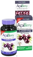 Natrol - AcaiBerry Extra Strength 1200 mg. - 60 Vegetarian Capsules, from category: Nutritional Supplements