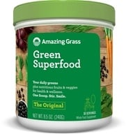 Amazing Grass - Green SuperFood All Natural Drink Powder 30 Servings Original - 8.5 oz. (829835931002)
