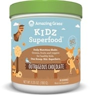 Amazing Grass - Kidz SuperFood Powder 30 Servings Outrageous Chocolate Flavor - 6.5 oz. by Amazing Grass