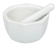 Harold Import - Mortar and Pestle Porcelain Octagonal White - 4.5 in., from category: Housewares & Cleaning Aids