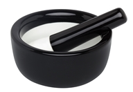 Harold Import - Mortar and Pestle Porcelain Round Black - 3.5 in., from category: Housewares & Cleaning Aids