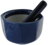 Harold Import - Mortar and Pestle Porcelain Octagonal Cobalt - 3.5 in. CLEARANCE PRICED, from category: Housewares & Cleaning Aids