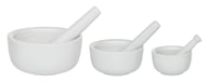 Mortar and Pestle Set of 3 Porcelain White by Harold Import