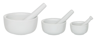 Harold Import - Mortar and Pestle Set of 3 Porcelain White, from category: Housewares & Cleaning Aids