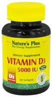 Image of Nature's Plus - Vitamin D3 5000 IU - 60 Softgels