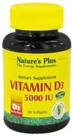 Nature's Plus - Vitamin D3 5000 IU - 60 Softgels, from category: Vitamins & Minerals