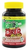 Image of Nature's Plus - Source Of Life Green And Red Mini-Tabs With Anti-Aging Nutrients - 180 Tablets
