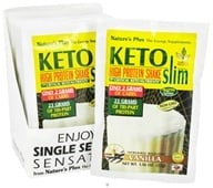 Image of Nature's Plus - KetoSlim High Protein Shake Vanilla - 1 Packet