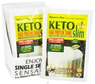Nature's Plus - KetoSlim High Protein Shake Vanilla - 1 Packet - $2.55