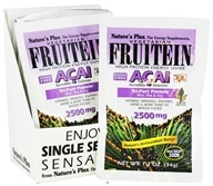 Nature's Plus - Vegetarian Fruitein Acai High Protein Energy Shake 2500 mg. - 1 Packet CLEARANCE PRICED, from category: Health Foods