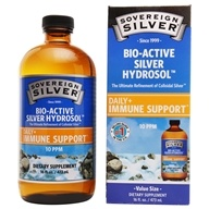 Sovereign Silver - Bio-Active Colloidal Silver Hydrosol 10 Ppm - 16 oz. by Sovereign Silver