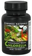 Image of Source Naturals - Emerald Garden Organic Chlorella Chlorophyll-Rich Superfood 500 mg. - 100 Tablets