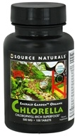 Source Naturals - Emerald Garden Organic Chlorella Chlorophyll-Rich Superfood 500 mg. - 100 Tablets (021078021070)