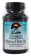 Source Naturals - ArcticPure Omega-3 Fish Oil 850 mg. - 60 Softgels (021078020134)