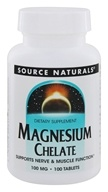 Source Naturals - Magnesium Amino Acid Chelate 100 mg. - 100 Tablets by Source Naturals