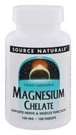Source Naturals - Magnesium Amino Acid Chelate 100 mg. - 100 Tablets, from category: Vitamins & Minerals