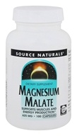 Source Naturals - Magnesium Malate Yielding 416.5 mg Malic Acid 625 mg. - 100 Capsules - $6.85