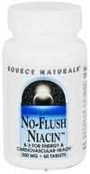 Source Naturals - No-Flush Niacin 500 mg. - 60 Tablets