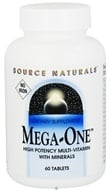 Image of Source Naturals - Mega-One High Potency Multi-Vitamin With Minerals Iron-Free - 60 Tablets Formerly Maga-Vite 85
