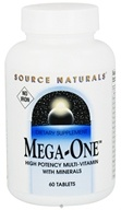 Source Naturals - Mega-One High Potency Multi-Vitamin With Minerals Iron-Free - 60 Tablets Formerly Maga-Vite 85 - $10.33
