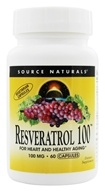 Image of Source Naturals - Resveratrol 100 High Potency 100 mg. - 60 Vegetarian Capsules