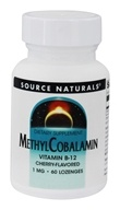 Source Naturals - MethylCobalamin Vitamin B-12 Sublingual Cherry 1 mg. - 60 Tablets by Source Naturals