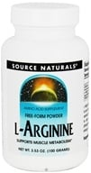 Source Naturals - L-Arginine Free-Form Powder - 3.53 oz.