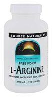 Source Naturals - L-Arginine Free Form 1000 mg. - 100 Tablets by Source Naturals