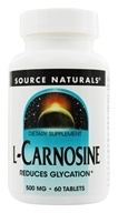 Image of Source Naturals - L-Carnosine 500 mg. - 60 Tablets