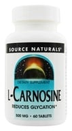 Source Naturals - L-Carnosine 500 mg. - 60 Tablets