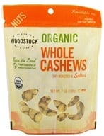Image of Woodstock Farms - Cashews Whole Large Roasted and Salted - 7 oz.