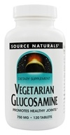 Source Naturals - Vegetarian Glucosamine 750 mg. - 120 Tablets